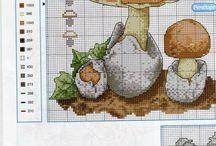 Keresztszemes minták (növények) / gyümölcs, zöldség, gomba, virág