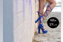 Khloe 29,99€ || Γυναικεία Πέδιλα Lace Up Μπλε
