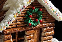 gingerbread houses / Building with candy crackers cereal