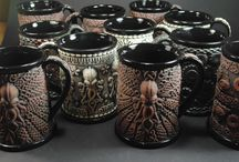Beer Steins - Limited & Open Editions / Pictures of all my Sprigged Beer Steins, some editions sold out, some still for sale