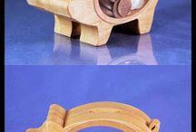 skarbonki -  wooden piggybank