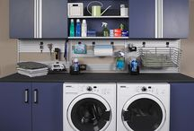 Laundry Rooms / We at The Closet Works offer space optimization solutions for your laundry rooms. We can create and redesign laundry rooms for better space organization and storage.
