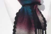 WOVEN SCARVES,SHAWLS AND CLOTHING / Woven scarves, shawls, clothing, diy