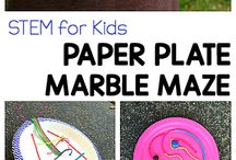 paper plate and marbles