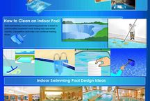 Swimming Pool Infographics / The infographic performances of construction with swimming pool.This infographic was made by Technologypools. Backyard Swimming pool facts, construction, benefits and safety tips.