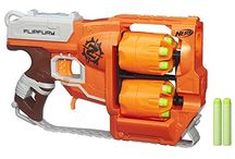 Nerf Blasters and Accessories / You either do Nerf Blasters or you don't, and if you don't, you have no idea how much fun you're missing out on :-)