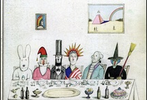 Saul Steinberg / Saul Steinberg (1914-1999) was one of America's most beloved artists, renowned for the covers and drawings that appeared in The New Yorker for nearly six decades and for the drawings, paintings, prints, collages, and sculptures exhibited internationally in galleries and museums / by Angharade Les Petits Cailloux