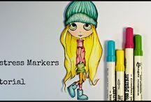 tutorial / Video tutorial #Scrapbooking #drawing #distressmarkers #watercolor