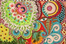 Zentangle - Doodling - PAISLEY