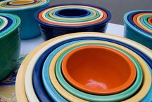 Fiesta Dinnerware / Pieces I have/want, ways to display (and a little Pyrex for good measure!). / by Ali Maxine
