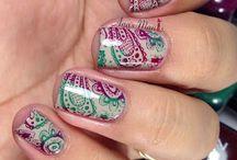 Uñas / Zentangle - Mandalas / nail art mandalas