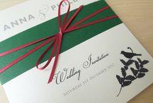 Christmas wedding invitations / Christmas wedding stationery