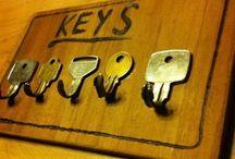 Sleutels ophangen / Krijtbord