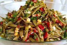 taze fasulye salatasi