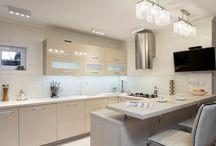 scandinavian glamour french / Wnętrza inwestor prywatny. #french kitchen # scandinavian # marble floor # villeroy&boch