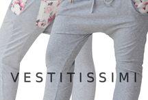 Pantaloni donna  sportivi fantasia floreale / Pantaloni donna sportivi fantasia a fiori con zip orizzontale