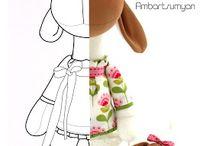 Тильды, текстильные куклы