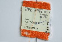 Train ticket art