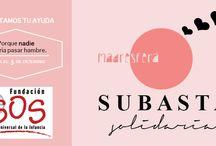 Subasta Solidaria Madresférica 2014 / Porque nadie debería pasar hambre. Tienes hasta el 5 de diciembre para pujar por estos productos! / by Madresfera
