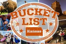 Kansas Bucket List - Top 70 / Unveiled in winter 2015, this board shows the top 70 Bucket List experiences in Kansas.
