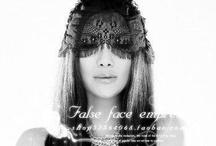 bunny ear,lace mask
