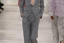 grey pants suit