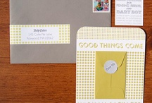 Baby Announcments & Showers / Well designed birth announcements and baby showers.