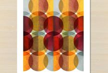 Graphic prints / Unique mid century, scandinavian inspired prints from original abstract art.