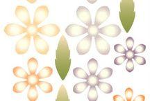 kwiatki - papier