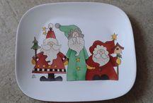 Porcelanas Natal / Desenhos para louças de Natal