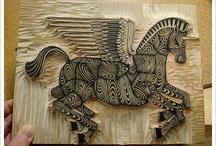 stamps, print, linocut, woodcut ... insp.