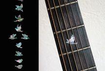 """Bird / inlay sticker """"BirdCharacter"""" guitar/ukulele decals"""