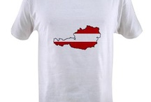 Austria Flag Map Products