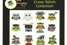 Owls : cross-stitch