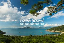 Beach Resort / There's always something about feeling sand between our toes and salty breeze on our faces. No matter what time of the year it is, heading to a faraway shore is always a good idea. But to do it right, and to live this getaway to the fullest, only a beach resort will do!