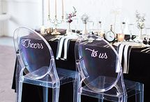 {WEDDING} CHAIR DECOR / The small details of flowers or greenery can make your guests chairs special. Bride and groom chairs dressed up are more personalized. Every chair deserves special treatment.