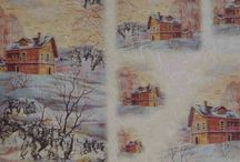 Winter papers for decoupage/photo transfer