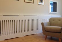 Radiator cover with slats
