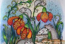Rita Berman's Coloring Books