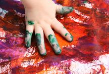 Hand and Foot Art / Little hands, fists, fingers and feet can create the most fantastic art. And getting messy is fun, too! http://www.bsmall.co.uk/books/Hand_Art/Creative_Hand_Art