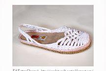 sapatos de croche