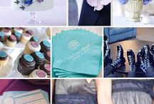 Blue and Purple wedding theme