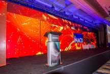 2016 NACD Convention, Marriott Marquis, DC / EVENTEQ designed and delivered an immersive LED stage set using our 3.75mm and 18mm LED wall, video, audio, lighting, digital signage and custom scenic including registration environment, member lounge and digital signage enclosures.