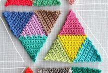 triangulos em crochet