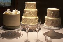 Satellite Cakes/ Dessert Table / Multiple cakes of different tiers, and multiple forms of dessert for one table