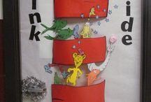 výzdoba triedy / výzdoba triedy, kreatívne nápady, nástenky v triede