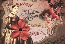 typography - vintage perfume labels