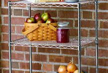 Kitchen and Pantry Organizing / Storage ideas for pots, pans, and cans. And, of course, other kitchen appliances.