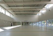 Gymnasium / Gym, hall, 체육관, 강당, 대공간