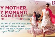 My Mother, My Moment! / This Mother's Day, cherish those wonderful memories that you have spent with your Mother... Share a picture of you with your mother and win exciting BIBA vouchers! / by Biba India